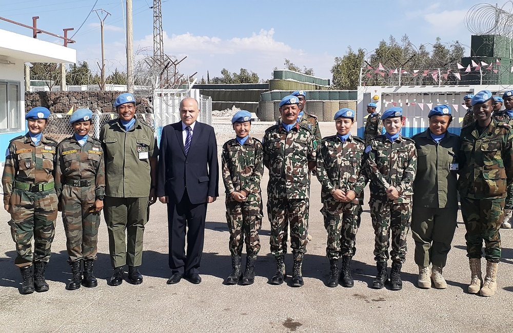 Staff Officers from UNDOF HQ at the ceramoney with SSAD and FC