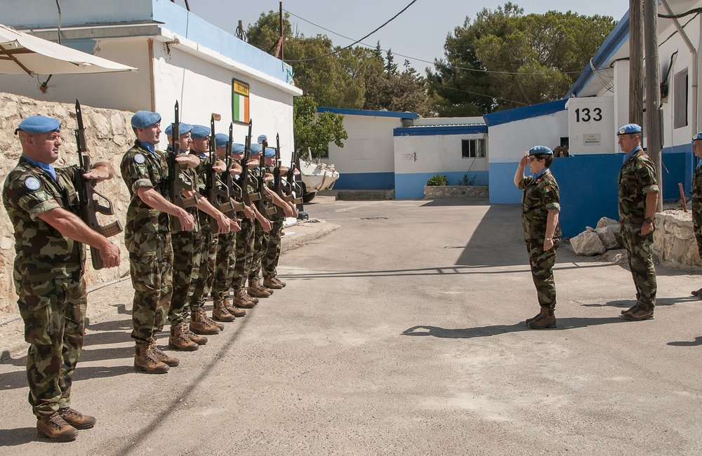DFC UNDOF recieves salute from honour guard FRC