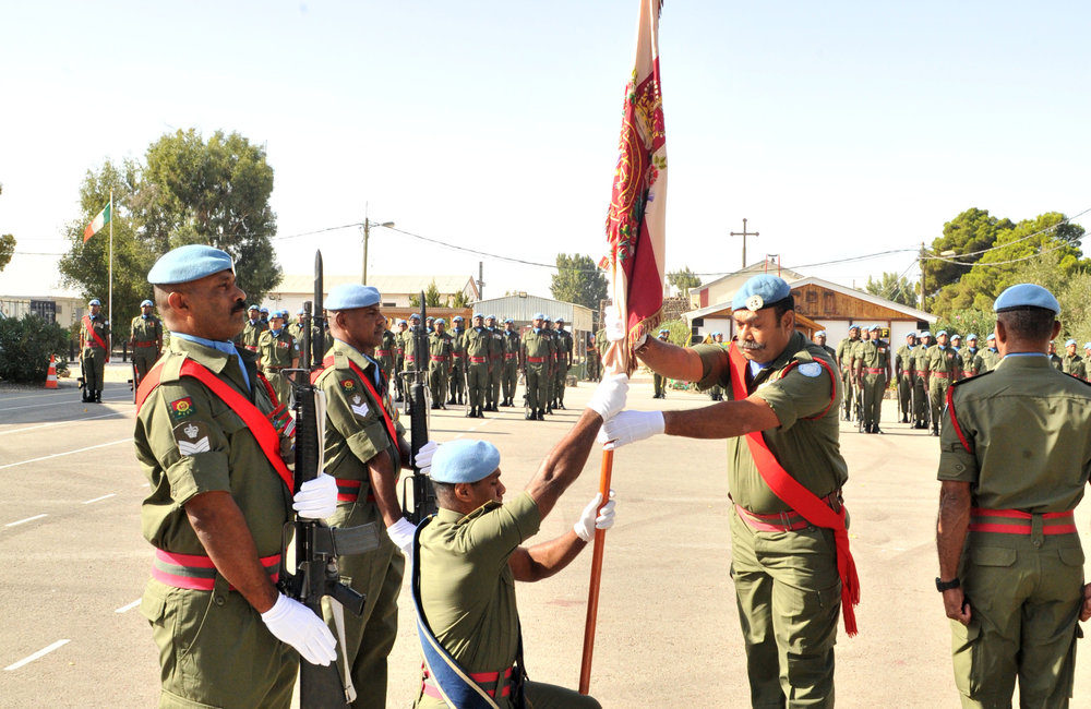 At the Handover/Takeover Parade at Camp Ziouani