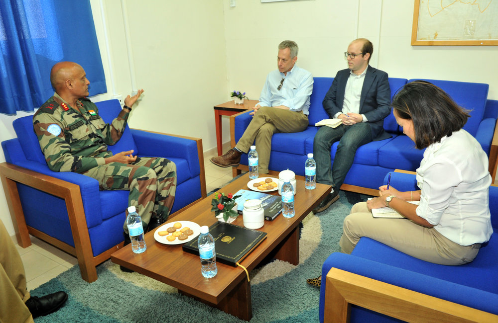 Office call on with UNDOF Force commander Maj Gen Jai Shanker Menon
