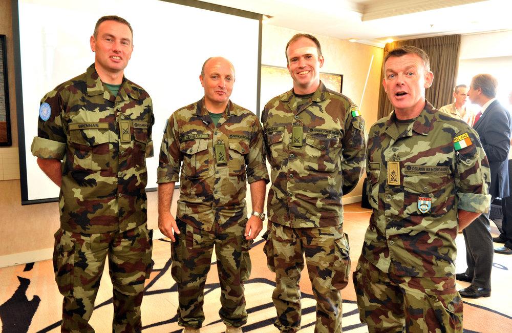 UNDOF/ UNTSO Irish participants- Comdt Brennan, Lt Col Murray, Comdt Sheehan, Lt Col Kiely