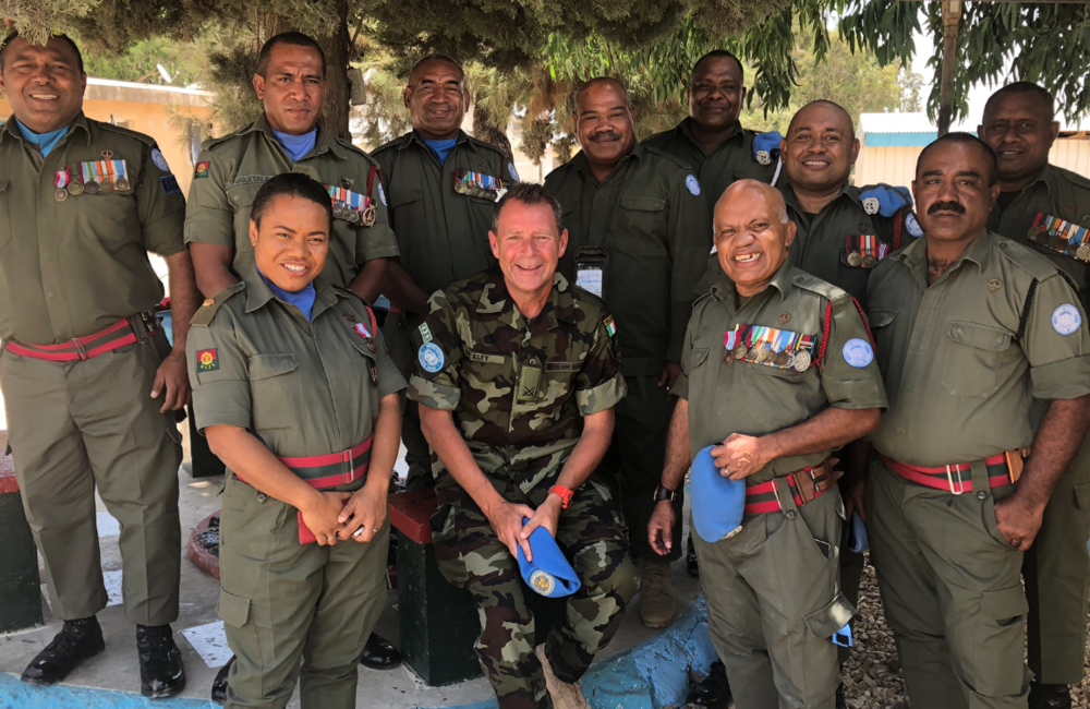 Members of Fiji Batt 6 who were awarded the UNDOF Medal after the parade