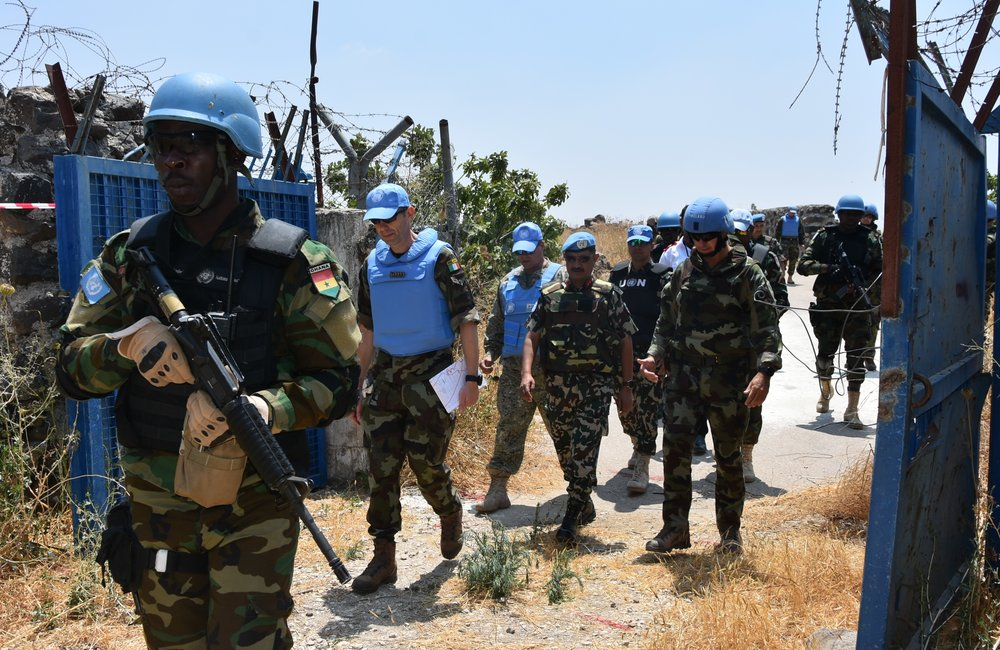 F/C with UNDOF, OGG and UNTSO Staff enter UNP 58