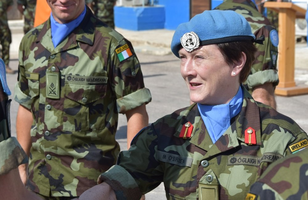 DFC UNDOF congratulates soldiers from 59th Irish Contingent on recieveing their UNDOF Medals