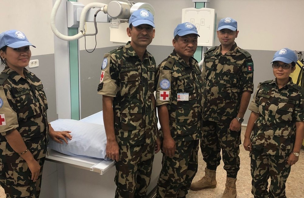 Nepalese Medical Staff in the Level 1 + Medical Facility will provide a full X-Ray for UNDOF Staff