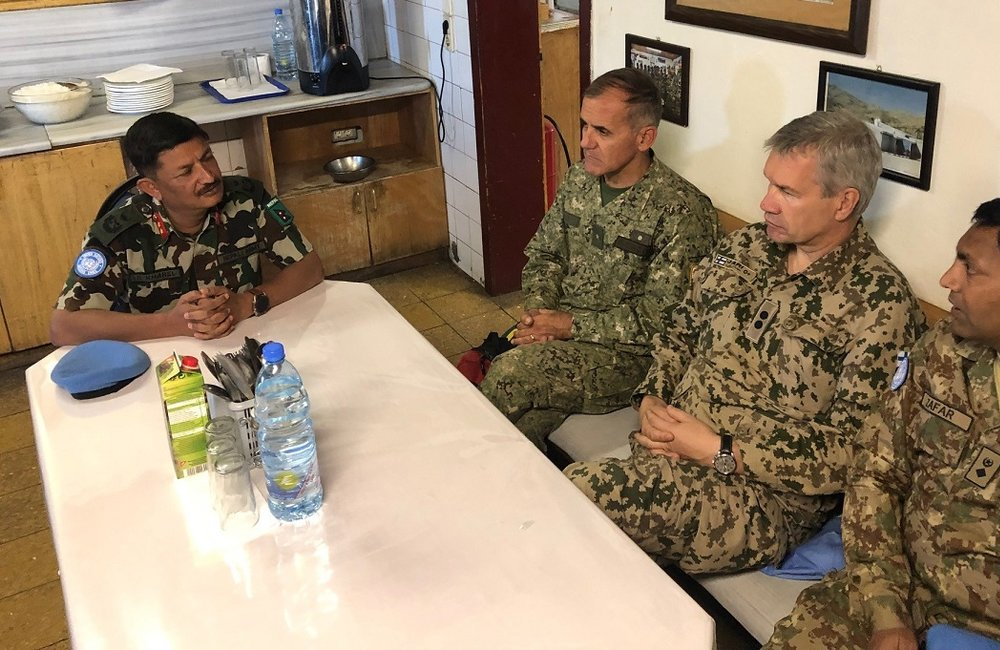 HoM and FC Maj Gen Shivaram Kharil discusses the future of UNDOF with the MCS.