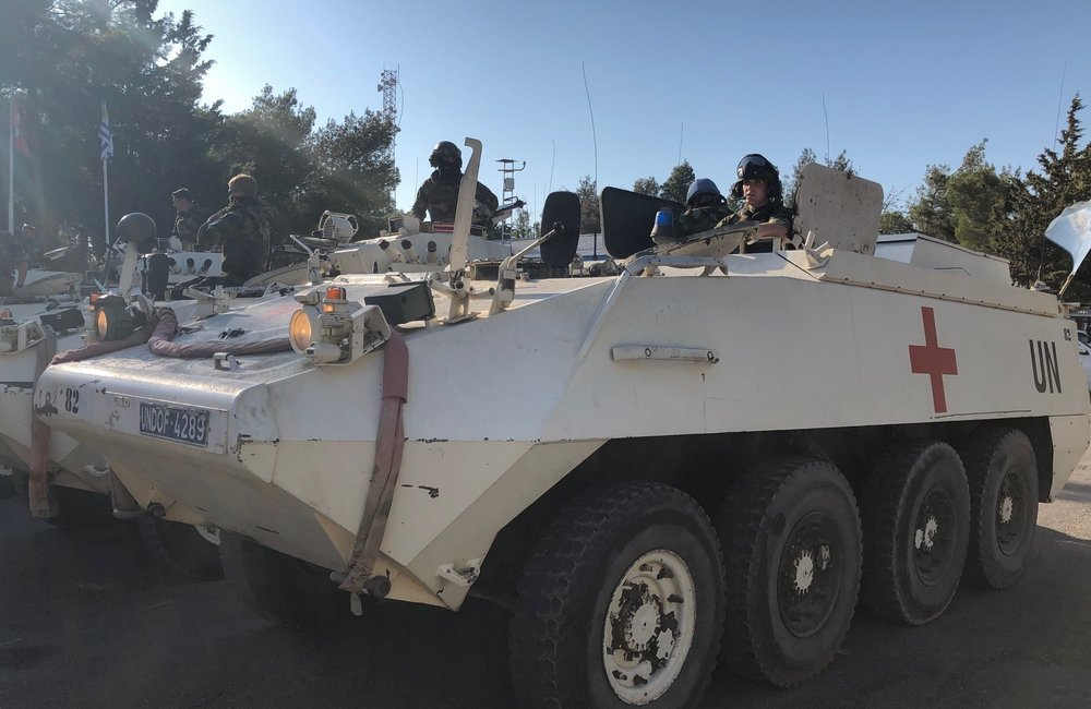 FRC Armoured Ambulance On Standby to Attend any Medical Assistance 24 hrours a day 7 days a week to all UNDOF and OGG Positions