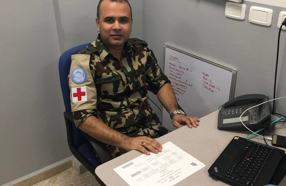 Lt Col Narayan Thapa Officer Commanding the Level 1 + Medical Facility in Camp Faouar.
