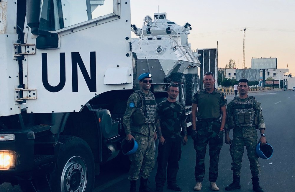 Irish and Uruguayan Peacekeepers working Togeather During the Logiscal Move.