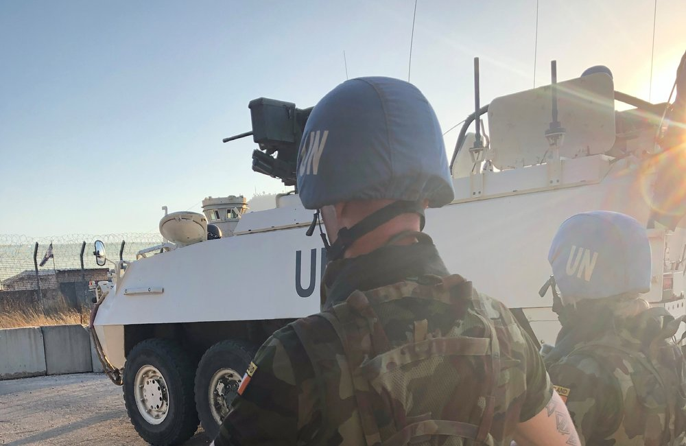 Irish FRC UNDOF Provide Security during the Reinforcement  Exercise.