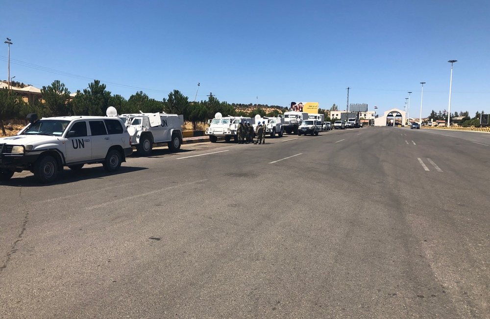 The Final Uruguayan Logistical Convoy Preparing to Cross the Broder from Lebanon to Syria