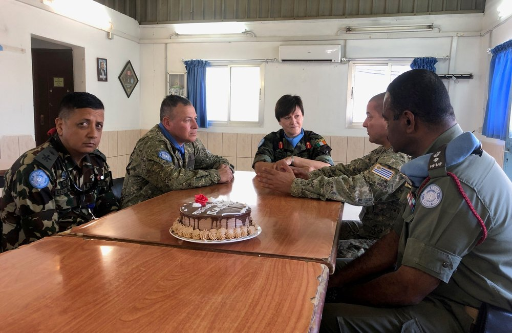 Brig Gen M O Brien DFC UNDOF had discussions with Contingent commanders prior to the HOTO event