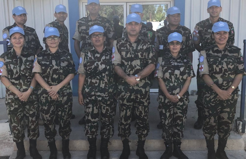 Lt Col Narayan Thapa and some of his 23 Medical Staff are looking forward to there deployment to UNDOF and providing an essential service to all UNDOF Staff.