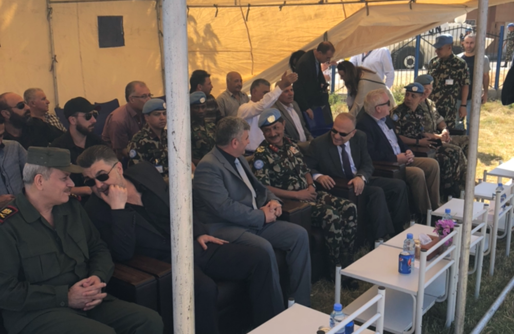 HOM and FC with Invited Guests at QIP in Khan Arnabeh