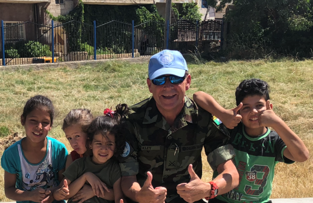 Children and UNDOF Staff at the Opening of the New Playground in  Khan Arnabeh