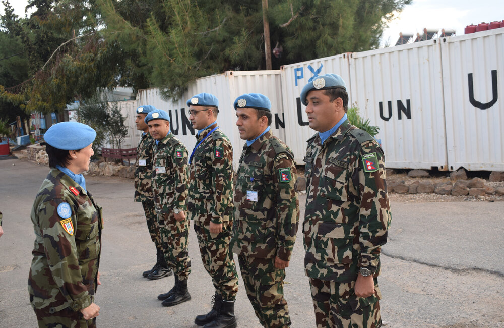 DFC speaks with outgoing Nepalese Commanders