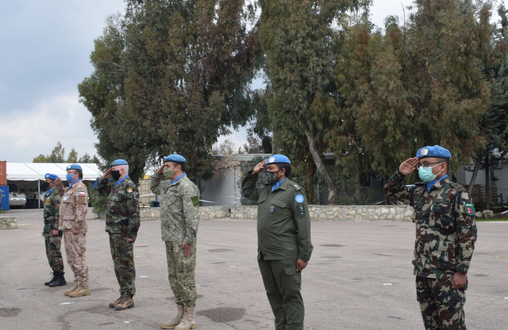 UNDOF's Senior Officers and the COO on parade
