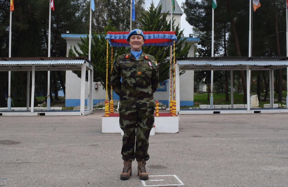 UNDOF's Deputy Force Commander Brigadier General Maureen O'Brien