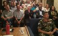FIRE DRILL EXERCISE CONDUCTED AT DAMASCUS FOR UNDOF STAFFS