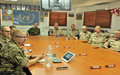 A delegation from Finland and Netheland visit UNDOF
