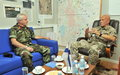 Visit of Irish DCOS(sp) Maj Gen Kevin Cotter to UNDOF
