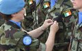 DFC UNDOF Presents UNDOF and Peacekeepers Medals to 59th Irish Contingent FRC UNDOF.