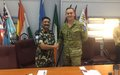 On Monday the 26th of August 2019 Colonel Scott D COS UNTSO Visited UNDOF HQ