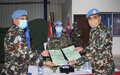 Handover of Nepalese Mechanized Company, Engineer Platoon and Level 1+ Hospital 06 Nov 2020