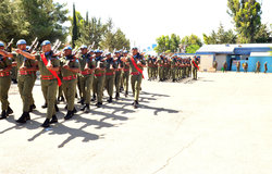 Fiji Batt Medal Parade at Camp Faouar