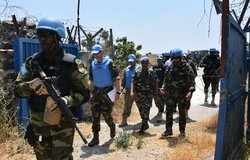 F/C with UNDOF, OGG and UNTSO Staff enter UNP 58