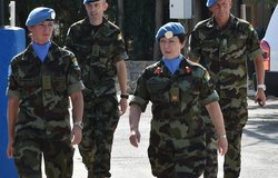 DFC UNDOF arrives at FRC for Medal Parade