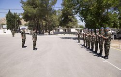 Brig Gen Paul Fry GOC Air Corps receives a Gurad of Honour from FRC Troops