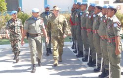 HoM and FC accompanies Lt Gen Bilton CJOPS ADF around the GOH compriseing of UNDOF Troops drwan from Fiji Batt.