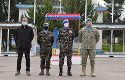 Members of UNDOF's Mission Leadership Team