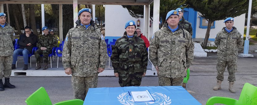 Stand down and HOTO Ceremony Chief of Staff UNDOF HQ