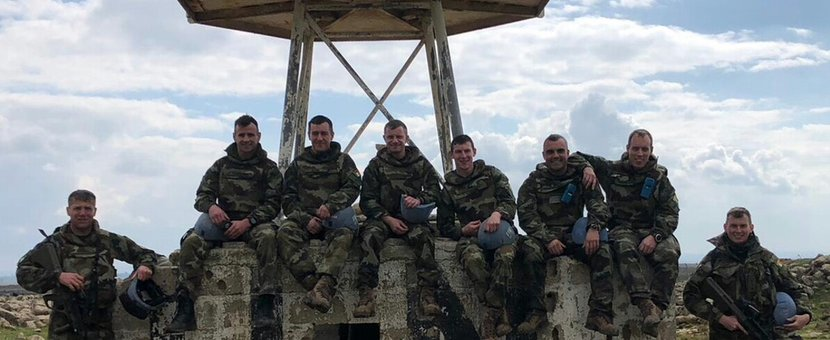The Engineer Specialist Search Team From Force Reserve Company Irish Defence Forces Who Conducted the Clearance Operation from UNP 85 to UNP 85 A