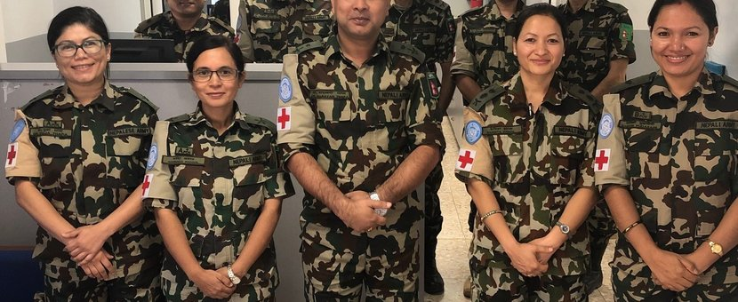 Napelese Medical Staff who assumed responsibility of the Level 1 + Medical Facilty in Camp Faouar
