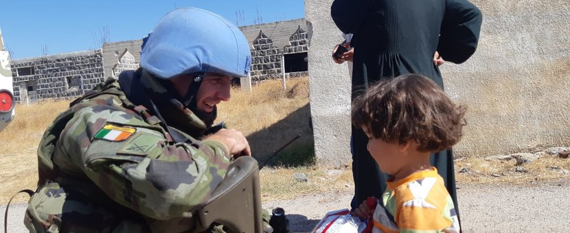 FRC UNDOF Interacting with Local Children In Nafaah during Recce.